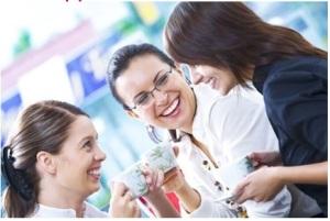 Three women w-coffee